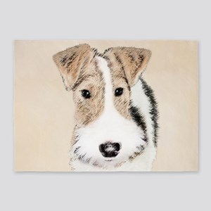 Wire Fox Terrier 5'x7'Area Rug
