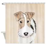 Wire Fox Terrier Shower Curtain