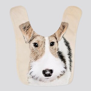 Wire Fox Terrier Polyester Baby Bib