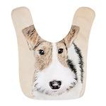 Wire Fox Terrier Polyester Baby Bib