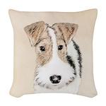 Wire Fox Terrier Woven Throw Pillow