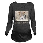 Wire Fox Terrier Long Sleeve Maternity T-Shirt