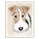 Wire Fox Terrier Small Poster