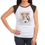 Wire Fox Terrier Junior's Cap Sleeve T-Shirt