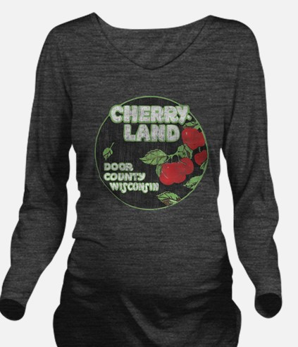 Door County Cherryla Long Sleeve Maternity T-Shirt