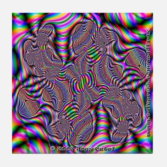Fractal C~15 Tile Coaster