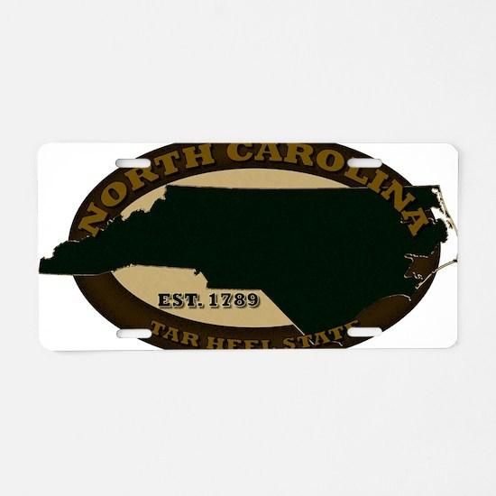 North Carolina Est 1789 Aluminum License Plate
