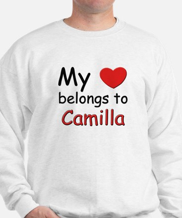 My heart belongs to camilla Sweatshirt