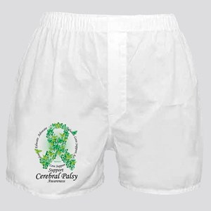 Cerbral-Palsy-Butterfly-Ribbon Boxer Shorts