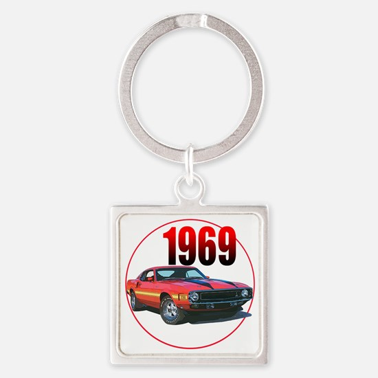 69GT500-C3trans Square Keychain