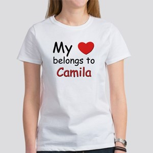 My heart belongs to camila Women's T-Shirt