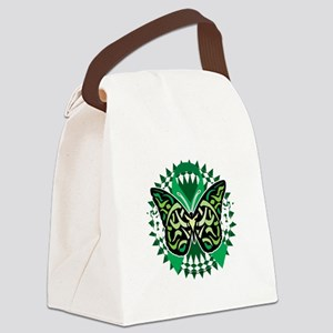 Cerebral-Palsy-Butterfly-Tribal-2 Canvas Lunch Bag