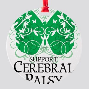 Cerebral-Palsy-Butterfly Round Ornament