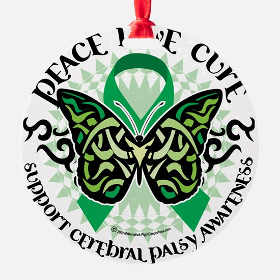 Cerebral-Palsy-Butterfly-Tribal-2 Ornament