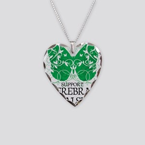 Cerebral-Palsy-Butterfly Necklace Heart Charm
