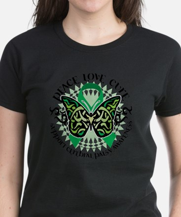 Cerebral-Palsy-Butterfly-Trib Women's Dark T-Shirt