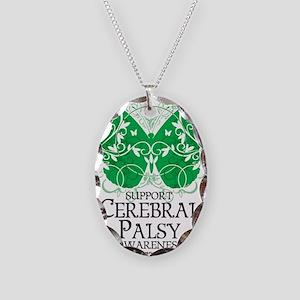 Cerebral-Palsy-Butterfly Necklace Oval Charm