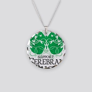 Cerebral-Palsy-Butterfly Necklace Circle Charm