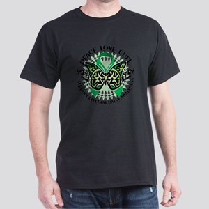 Cerebral-Palsy-Butterfly-Tribal-2 Dark T-Shirt