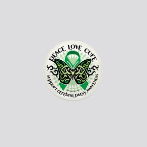 Cerebral-Palsy-Butterfly-Tribal-2 Mini Button