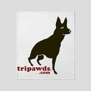 Tripawds.com Three Legged GSD Throw Blanket