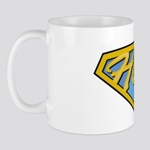 Childhood-Cancer-SuperHero-blk Mug