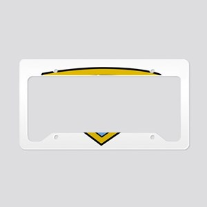 Childhood-Cancer-SuperHero-bl License Plate Holder