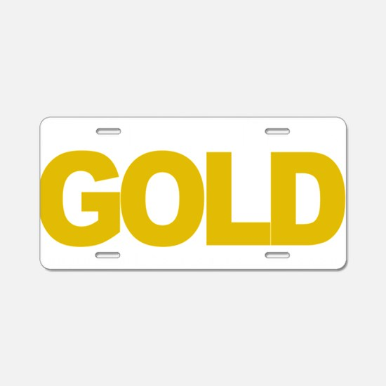 Childhood-Cancr-Think-GOLD- Aluminum License Plate