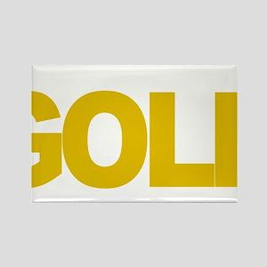 Childhood-Cancr-Think-GOLD-blk Rectangle Magnet