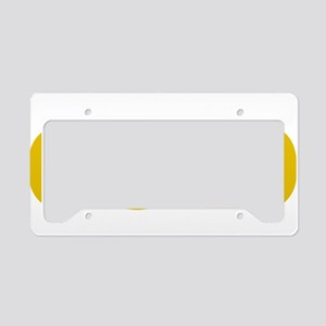 Childhood-Cancr-Think-GOLD-bl License Plate Holder