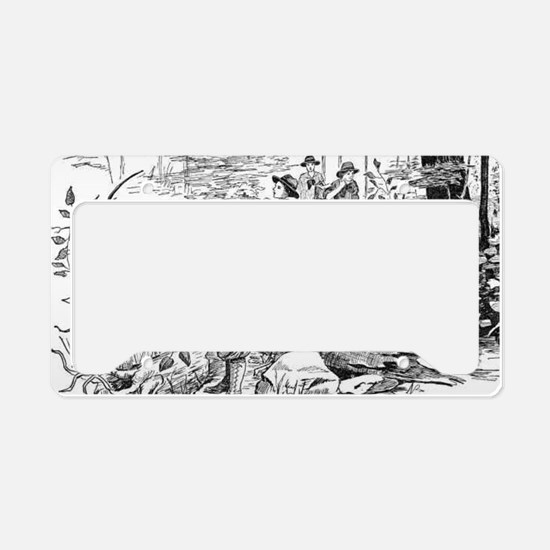 girls on the trail License Plate Holder