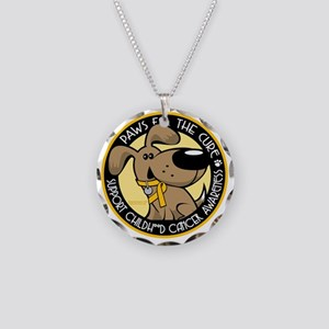 Paws-for-the-Cure-Childhood- Necklace Circle Charm