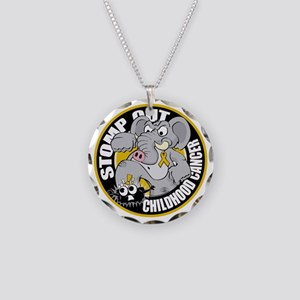 Stomp-Out-Childhood-Cancer-C Necklace Circle Charm