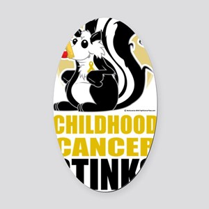 Childhood-Cancer-Stinks Oval Car Magnet