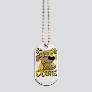 Paws-for-the-Cure-Childhood-Cancer-2-blk Dog Tags