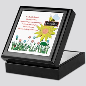 You Are My Sunshine Daughter Keepsake Box