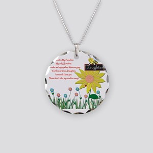 You Are My Sunshine Daughter Necklace Circle Charm