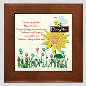 You Are My Sunshine Daughter Framed Tile