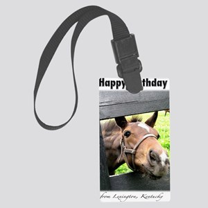 Happy Birthday from Kentucky Large Luggage Tag