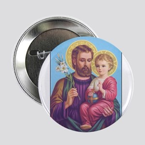 St. Joseph with Jesus Button