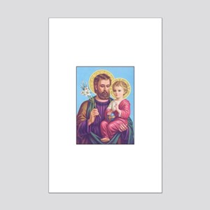 St. Joseph with Jesus Mini Poster Print