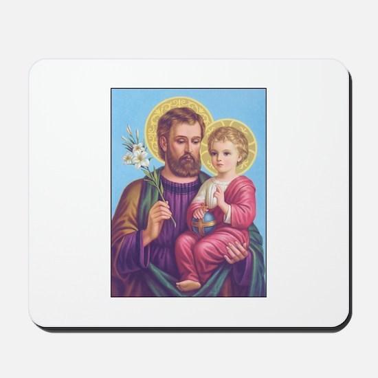 St. Joseph with Jesus Mousepad