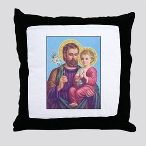 St. Joseph with Jesus Throw Pillow