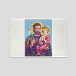 St. Joseph with Jesus Rectangle Magnet