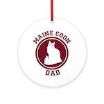 Maine Coon Dad Ornament (Round)