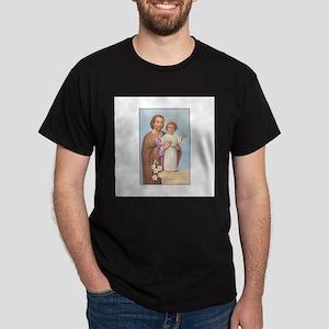 Saint Joseph - Baby Jesus Dark T-Shirt