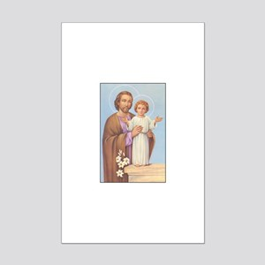 Saint Joseph - Baby Jesus Mini Poster Print