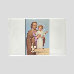 Saint Joseph - Baby Jesus Rectangle Magnet
