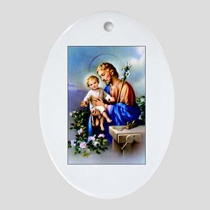 Saint Joseph Oval Ornament