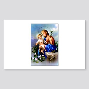 Saint Joseph Rectangle Sticker